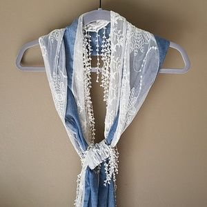 Denim and Lace Scarf